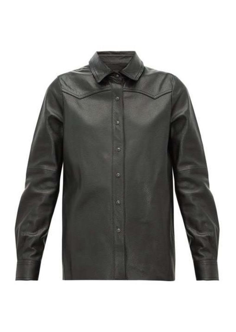 Nili Lotan Juline snake-effect leather shirt