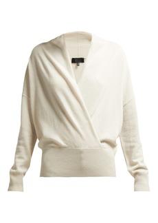 Nili Lotan Lakota wrap-effect cashmere sweater