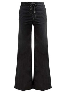 Nili Lotan Lennon high-rise lace-up jeans