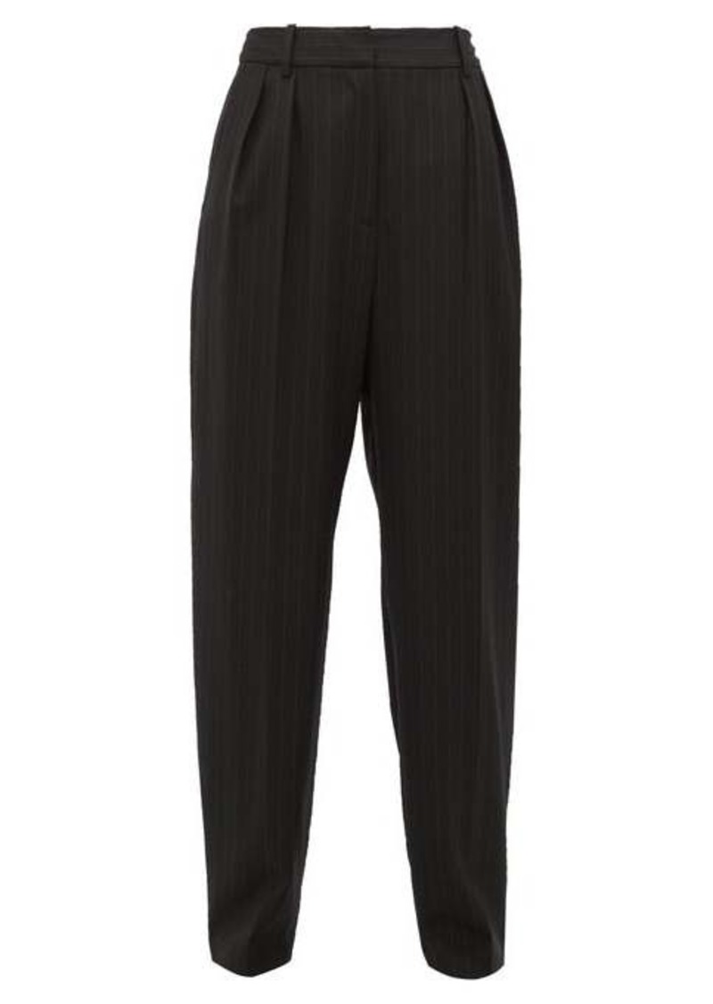 Nili Lotan Linda pinstriped wool-blend tapered trousers