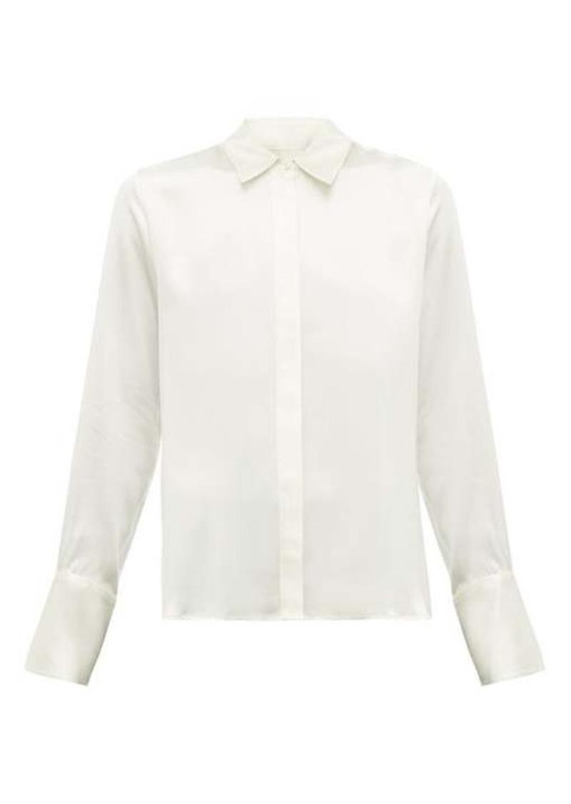 Nili Lotan Lleida silk-satin shirt