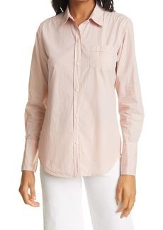 Nili Lotan Long Sleeve Cotton Button-Up Shirt