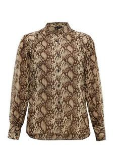 Nili Lotan Lorena snake-print silk blouse