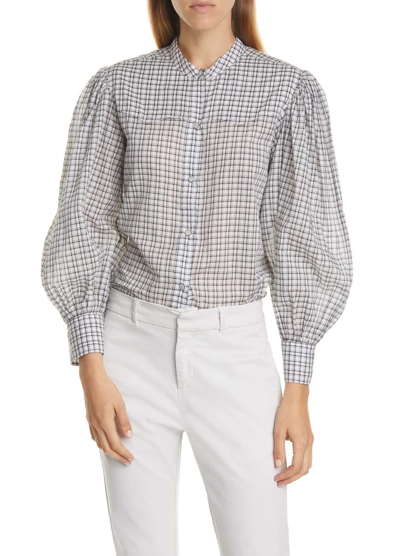 Nili Lotan Maisie Plaid Cotton Shirt