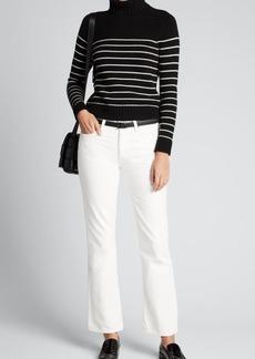 Nili Lotan Molly Stripe Turtleneck Cashmere Sweater