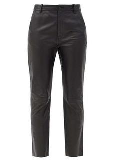 Nili Lotan Montauk cropped leather slim-leg trousers