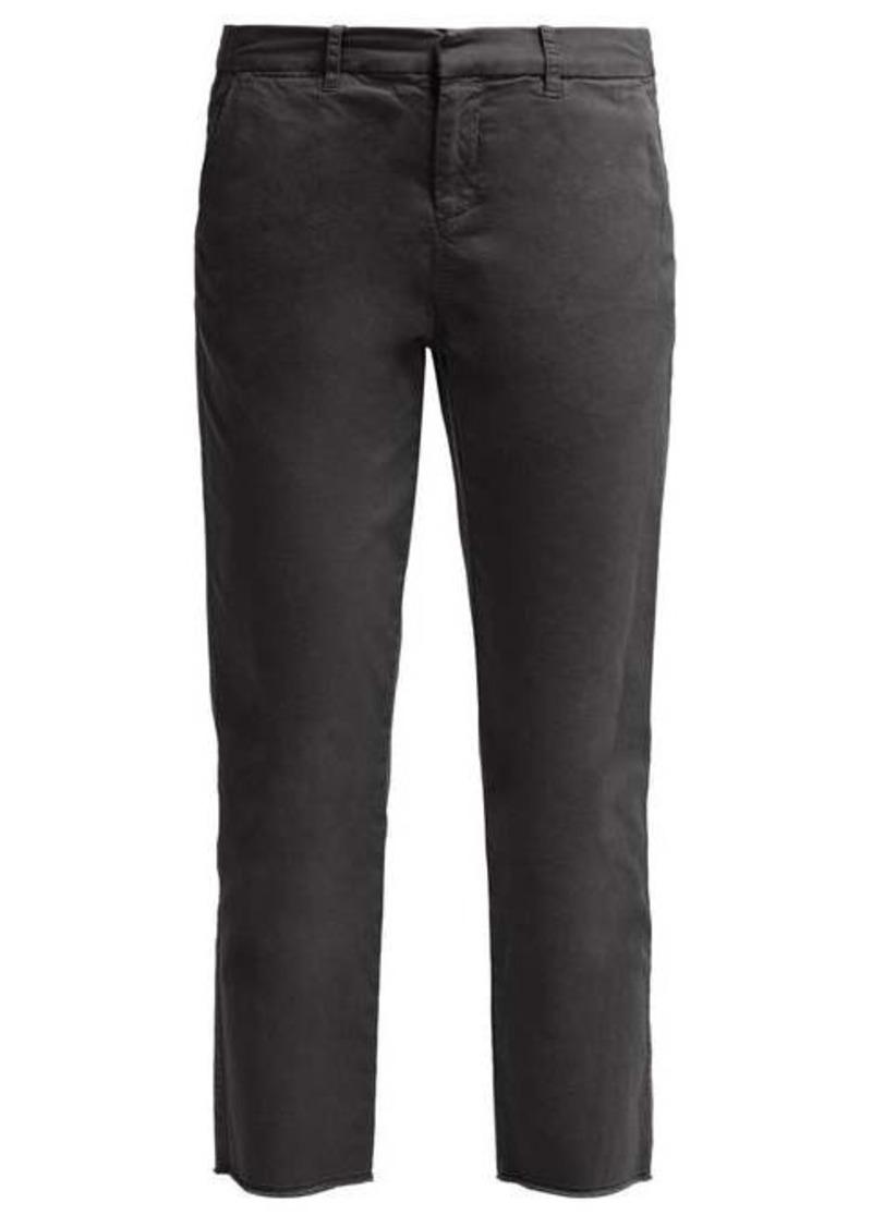 Nili Lotan Montauk cropped twill chino trousers