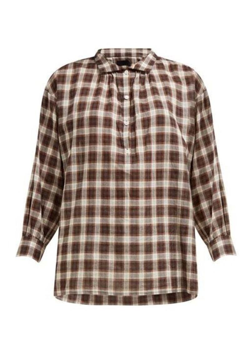Nili Lotan Myra checked shirt