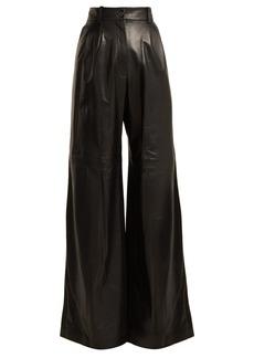 Nili Lotan Nico wide-leg leather trousers