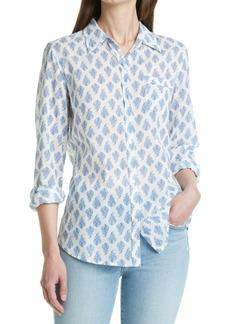 Nili Lotan Print Cotton Button-Up