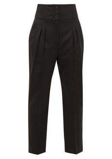 Nili Lotan Reta front-pleated wool-blend trousers