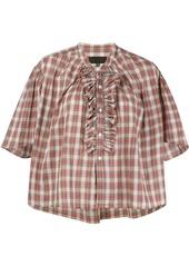 Nili Lotan Rita ruffled plaid blouse - Red