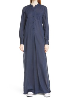 Nili Lotan Sandra Galabeya Long Sleeve Cotton Cover-Up Dress