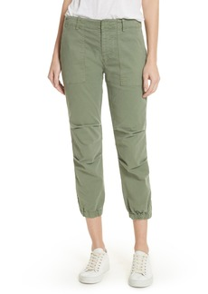 Nili Lotan Stretch Cotton Twill Crop Military Pants