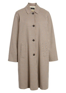 Nili Lotan Watson Plaid Duster Coat