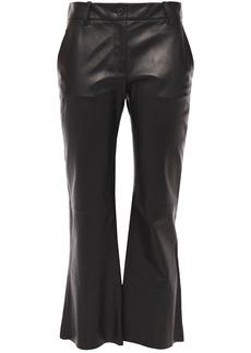 Nili Lotan Woman Caden Leather Kick-flare Pants Black