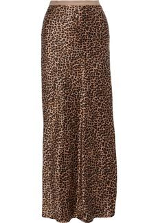 Nili Lotan Woman Maya Leopard-print Silk-charmeuse Maxi Skirt Animal Print
