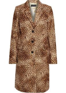 Nili Lotan Woman Rosalin Tiger-print Cotton-velvet Coat Animal Print