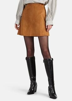 Nili Lotan Women's Ali Suede Miniskirt