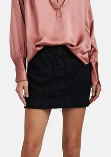 Nili Lotan Women's Apolline Striped Cotton-Linen Miniskirt