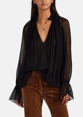 Nili Lotan Women's Arizona Silk Chiffon Blouse