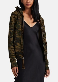 Nili Lotan Women's Callie Distressed Camouflage Cotton Hoodie