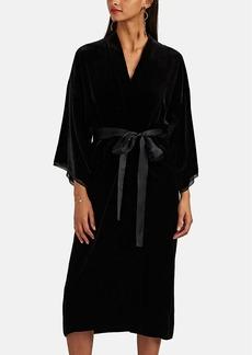 Nili Lotan Women's Rey Velvet Kimono Dress