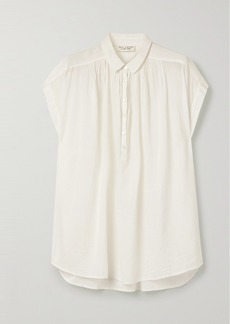Nili Lotan Normandy Cotton-voile Blouse