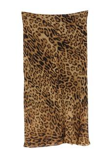 Nili Lotan Relana Leopard Print Silk Skirt