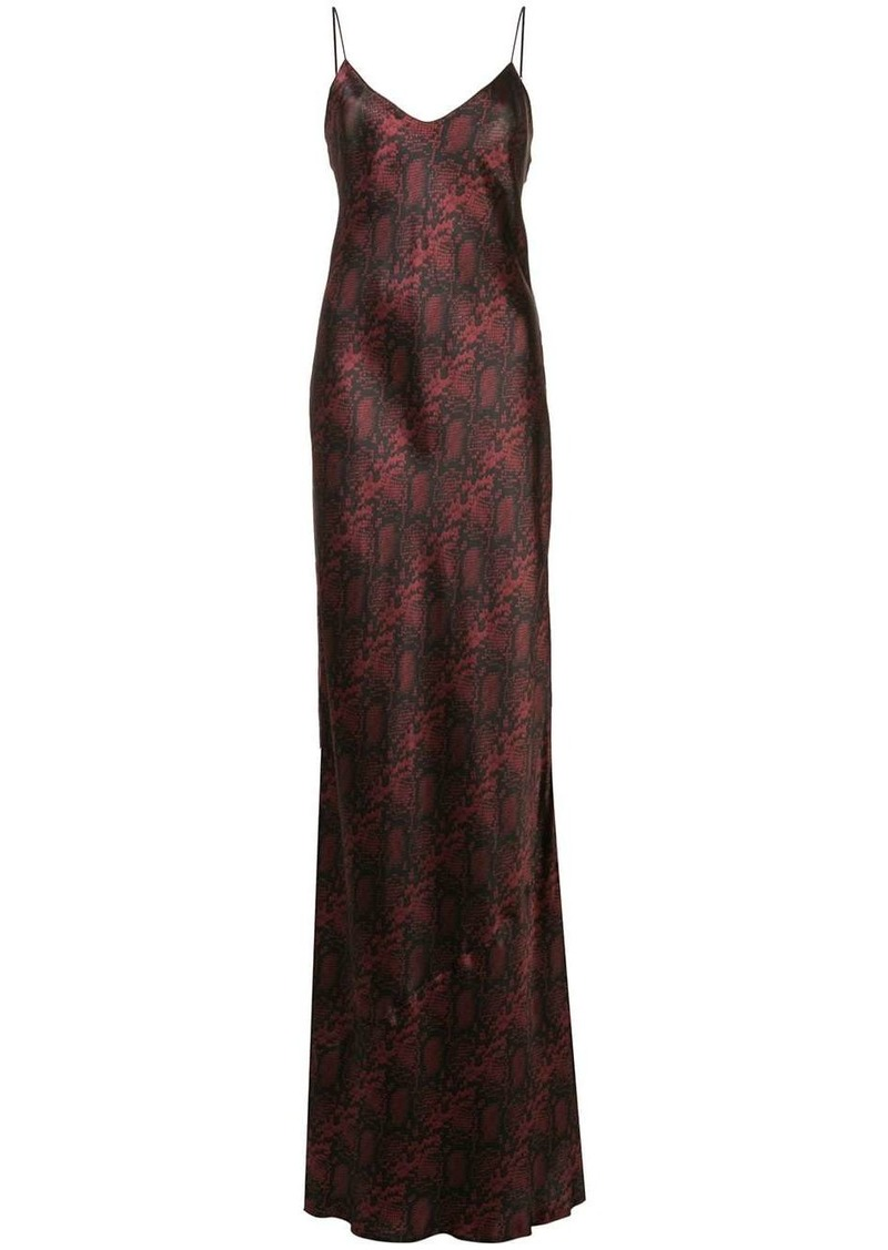 Nili Lotan snakeskin print silk dress