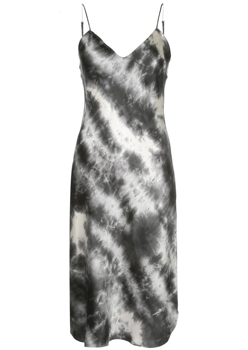 Nili Lotan tie-dye midi slip dress
