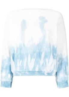Nili Lotan tie-dye print cotton sweatshirt