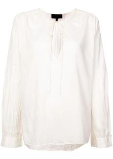 Nili Lotan tie neck flared blouse