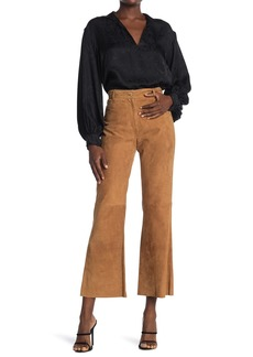 Nili Lotan Vianna Leather High Waist Flared Leg Pants