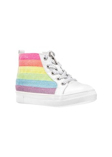Nina Kolette Glitter Stripe High Top Sneaker (Walker & Toddler)