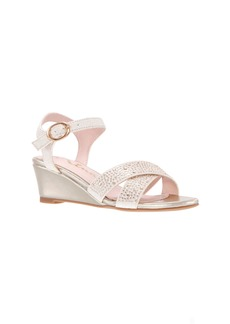 Nina Skarlet Glitter Wedge Sandal (Little Kid & Big Kid)