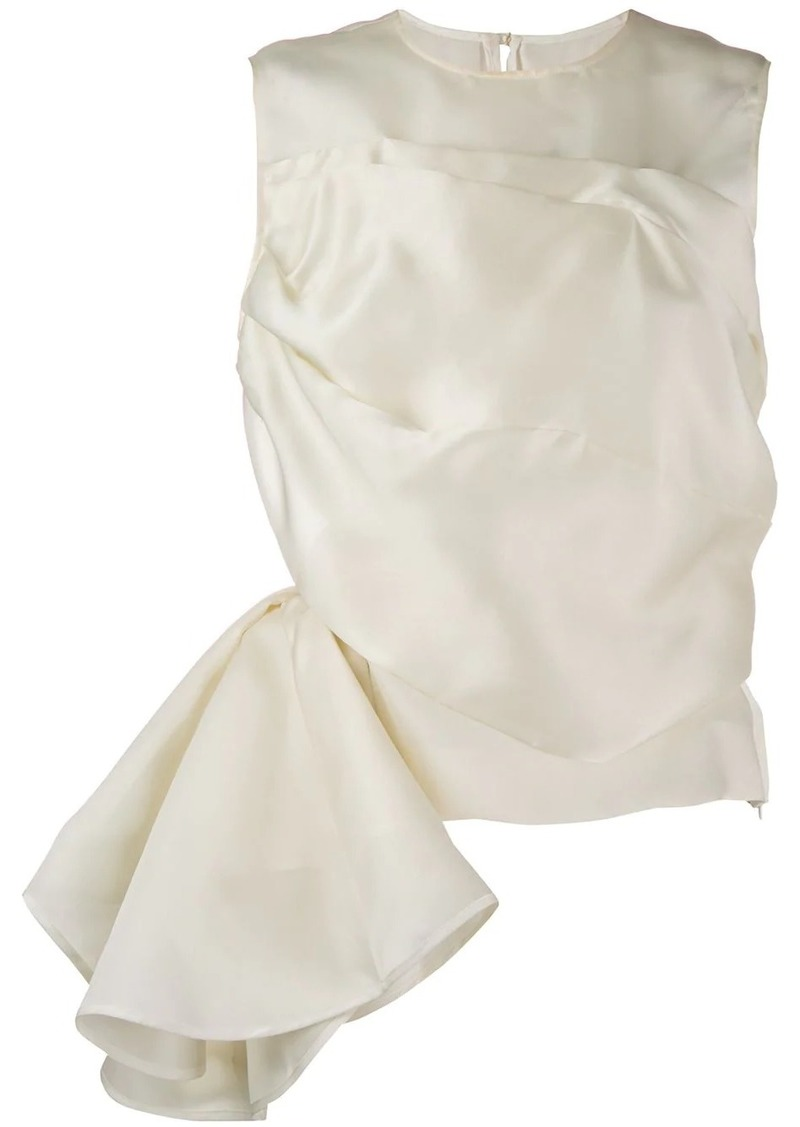 Nina Ricci draped panel asymmetric top