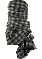 Nina Ricci checked asymmetric dress