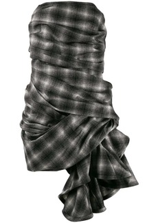 Nina Ricci checked asymmetric dress