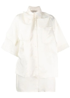 Nina Ricci layered short-sleeved shirt