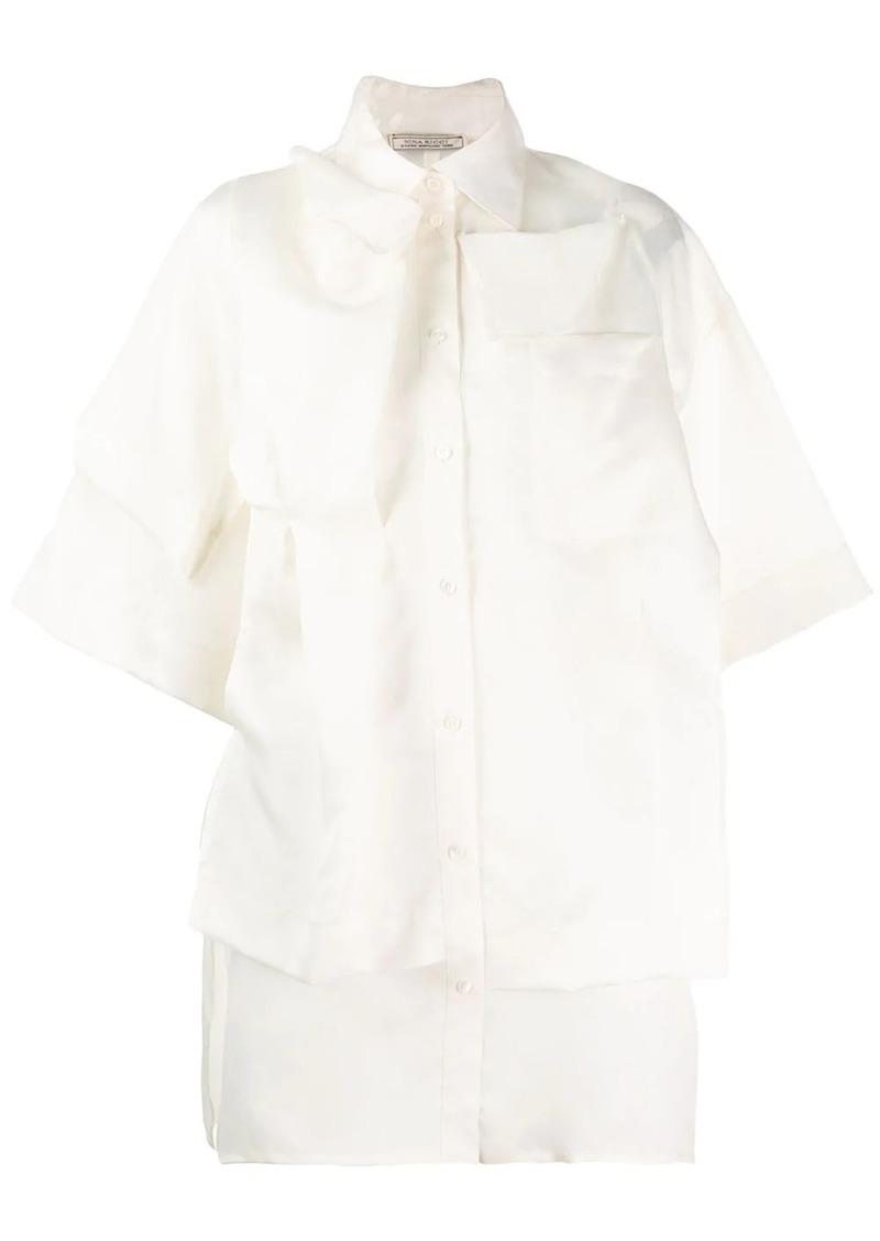 Nina Ricci layered short-sleeved shirt
