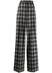 Nina Ricci checked wide-leg trousers