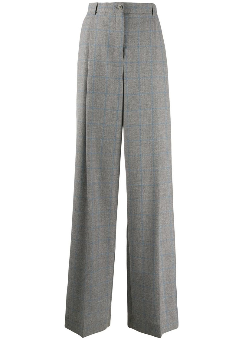 Nina Ricci checked wide-leg trousers