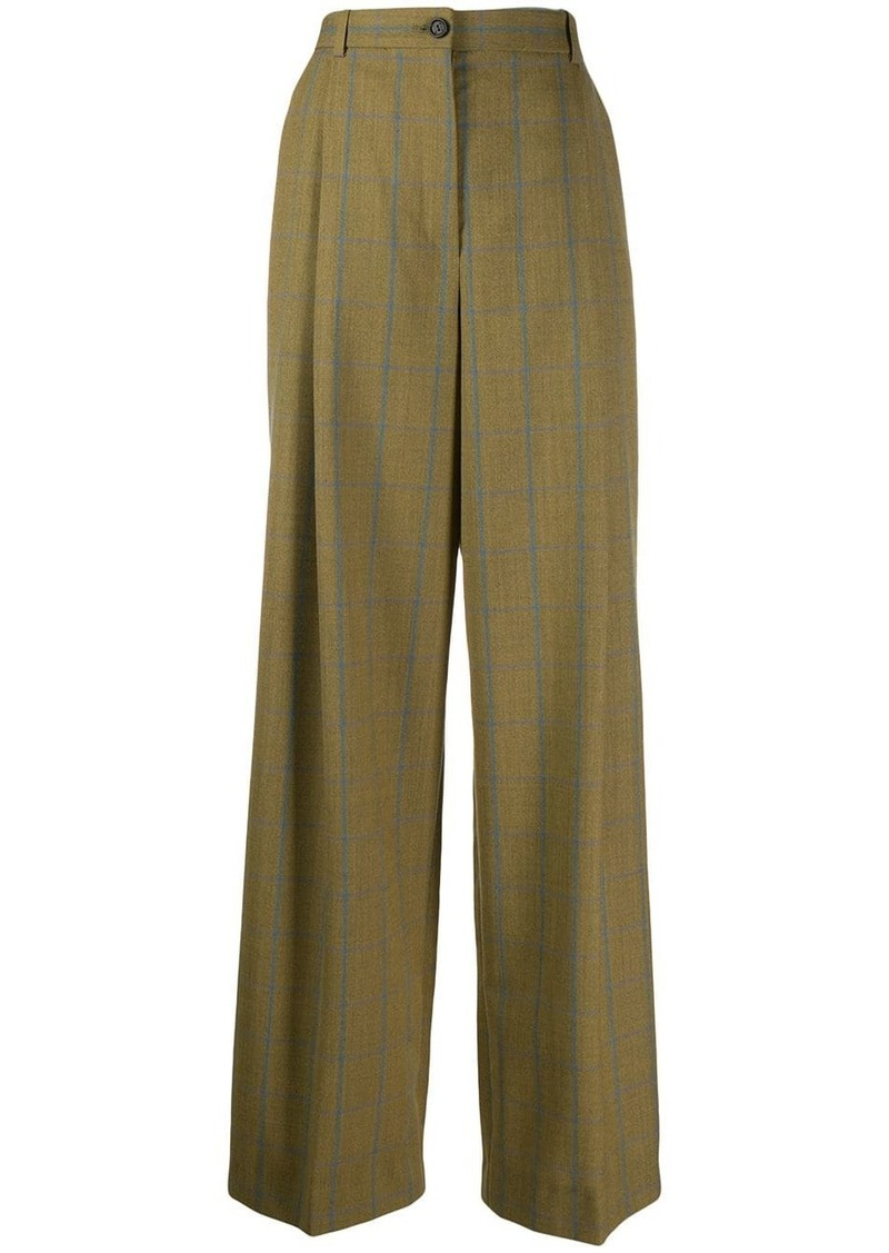 Nina Ricci check wide leg trousers