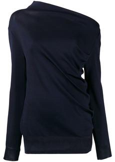 Nina Ricci asymmetric neck jumper