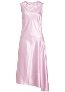 Nina Ricci Asymmetric Satin Dress