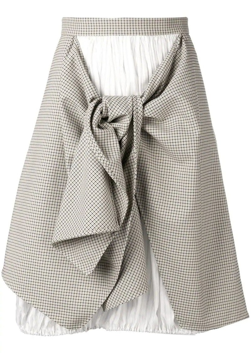 Nina Ricci asymmetric tartan skirt