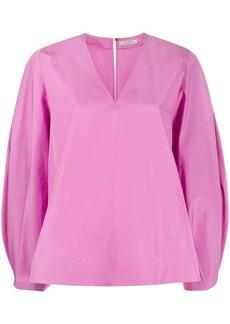 Nina Ricci bishop's sleeve V-neck blouse