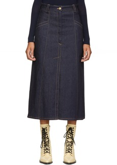 Nina Ricci Blue Denim Skirt
