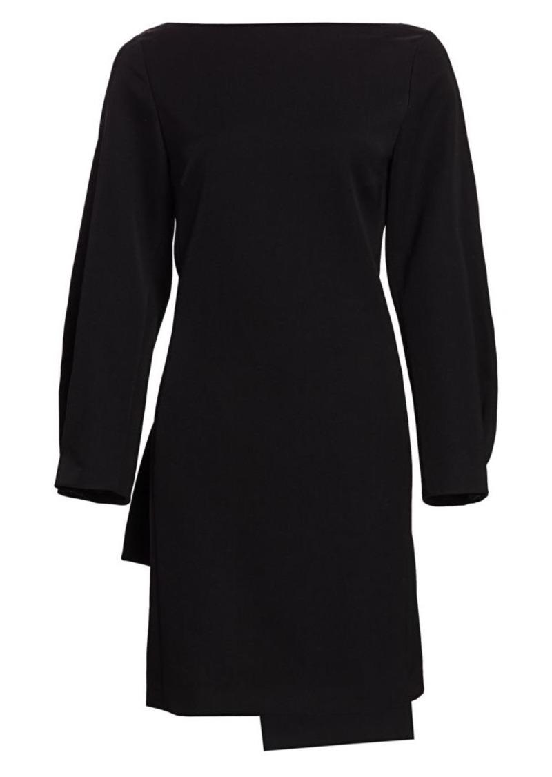 Nina Ricci Boatneck Bow-Back Wool Dress